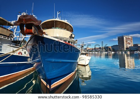 fishing boat in port in Zadar, Croatia