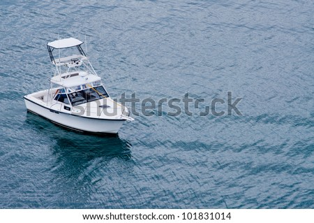 Fishing boat off the coast of Roatan