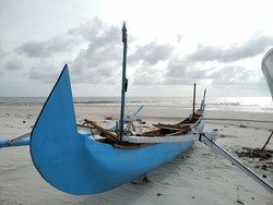 fishing boat on serdang beach