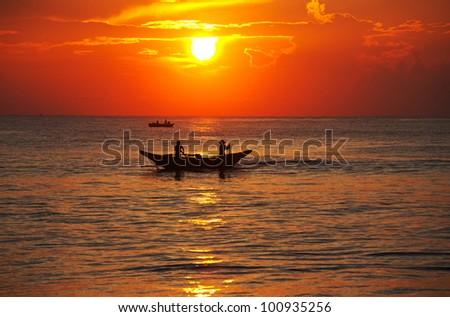 Fishing boat on  Sri Lanka