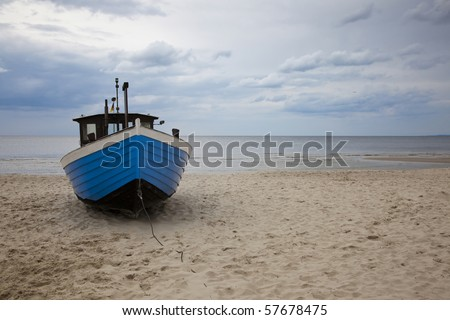 Fishing boat on the Baltic beach