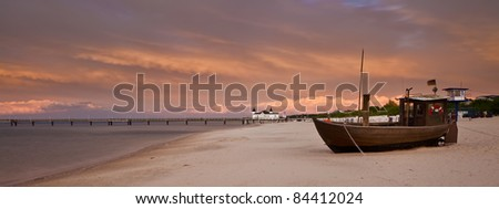 Fishing Boat on the beach from Ahlbeck, Germany