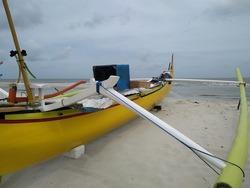 fishing boat on the beach of Serdang