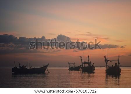 fishing boats and sailing ship...