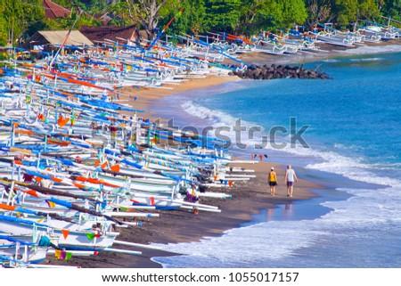 Fishing boats at Amed, Bali, Indonesia