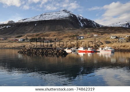 Fishing boats, East fjords Iceland