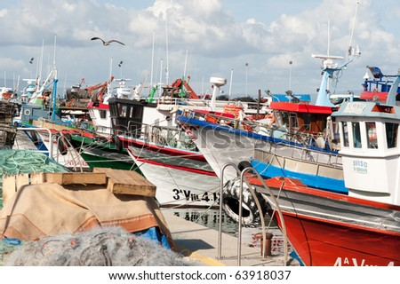 Fishing boats in a port