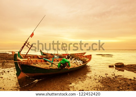 Fishing boats in Kep,Cambodia