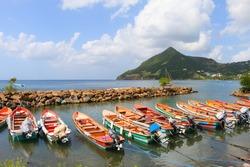 fishing boats, martinique, caribbean