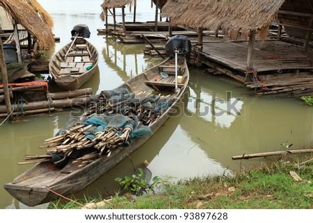 Fishing boats near the coast.