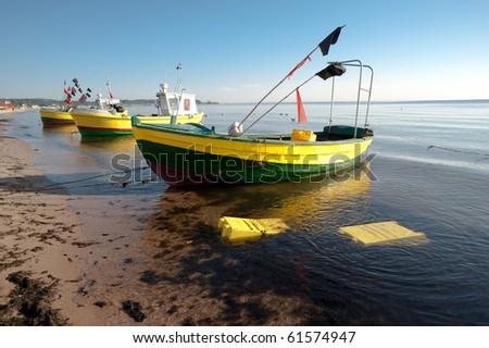 Fishing boats on the Polish Baltic seaside