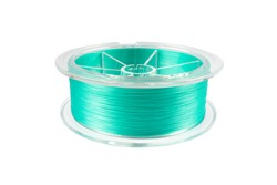 Fishing braided line isolated on white background. Spool of blue cord isolated. Spool of braided fishing line.