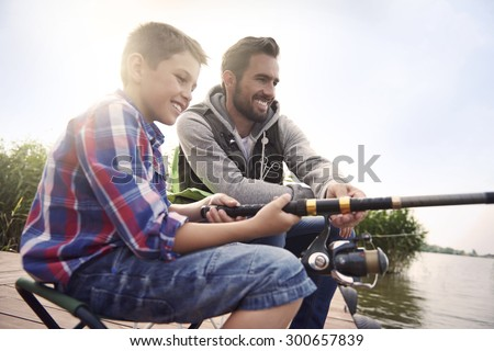 Fishing by the lake is our common passion
