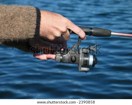 fishing closeup