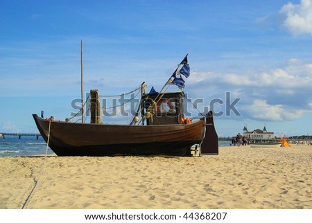 fishing cutter on the beach