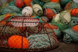 Fishing Equipment Quayside Sept-Iles Quebec Canada
