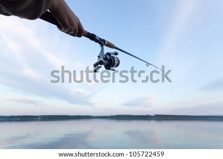 fishing, fishing in a lake,