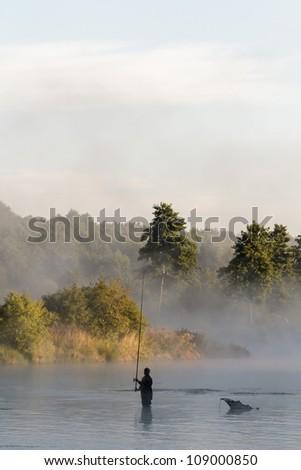 fishing, fishing in a lake, nature series