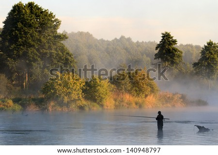 fishing, fishing in a lake, nature series