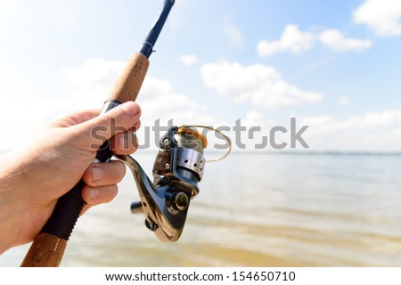 fishing, fishing in a lake, nature series #154650710