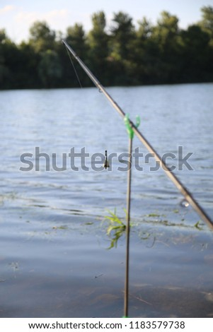 fishing. fishing tackle. a picturesque place for fishing #1183579738