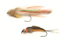 Fishing, fly fishing artificial bait, streamer