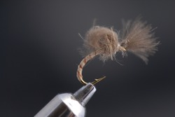 Fishing fly handmade by author.