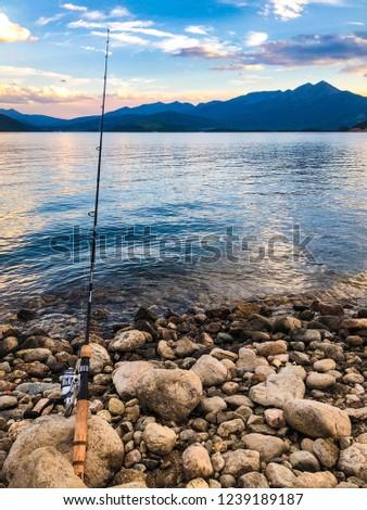 Fishing from Dillon lake.