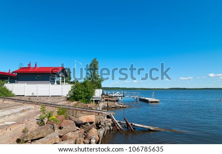 fishing house in Finland