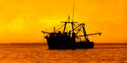 Fishing in the Caribbean - Fishing boat - trawler in Trinidad and Tobago