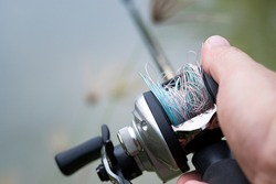 Fishing line tangled on lure Bait Casting Reel,like a Birds-nest tangles,Beginner fisherman.