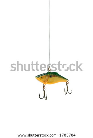 Fishing lure, conceptual for temptation. (Jiggler).