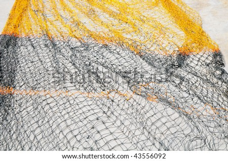 Fishing Net Drying In The Sun