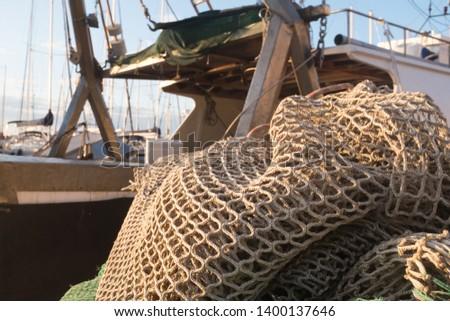 Fishing net on a trawler