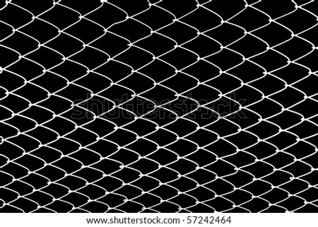 fishing net on black background. - stock photo