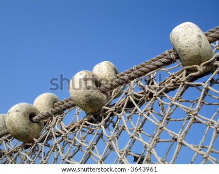 fishing net on the background of sky - stock photo
