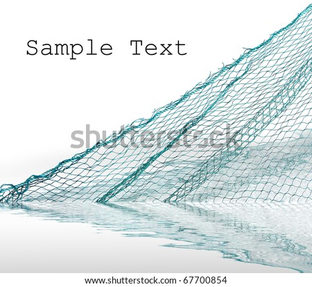 Fishing-net  with space for your text.