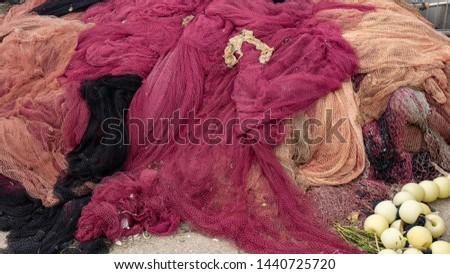 Fishing nets. colored fishing nets