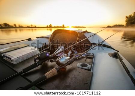 Fishing objekt background. Big game fishing reel.