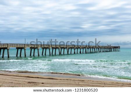 Fishing pier at Dania Beach, Florida, USA Zdjęcia stock ©