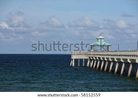 Fishing pier at deerfield beach in florida stock photo for Deerfield beach fishing pier