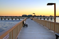 Fishing Pier in Cape Coral Florida