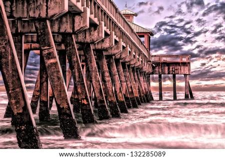 Fishing Pier in the early dusk