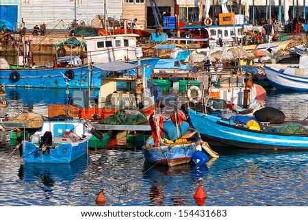 Fishing port in old Yafo (Israel)