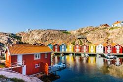 Fishing port in Smogen, Sweden