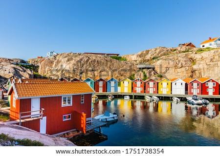 Fishing port in Smogen, Sweden Сток-фото ©