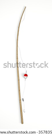 Fishing Road isolated on White Background. 3D illustration