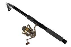 Fishing rod for fishing isolated on white background