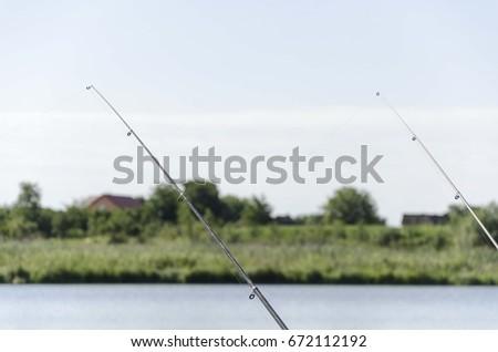 fishing rod isolated #672112192