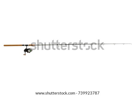 Fishing rod  isolated on white background #739923787